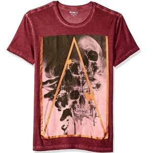 William Rast Short Sleeve Graphic Skull T-Shirt L